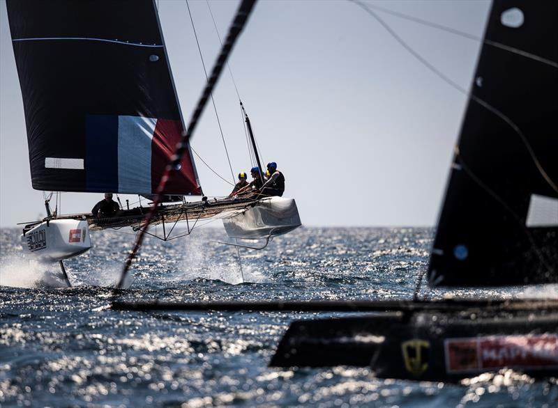 Erik Maris' Zoulou finished fourth overall. - Copa del Rey MAPFRE. photo copyright Tomas Moya / Sailing Energy / World Sailing / GC32 Racing Tour taken at Real Club Náutico de Palma and featuring the GC32 class