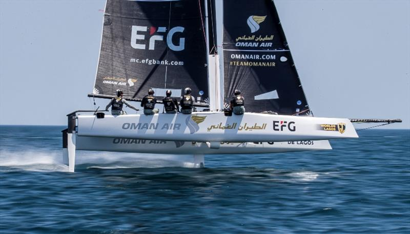 Oman Air has been having a successful year with New Zealander Adam Minoprio at the helm - GC32 World Championship - photo © Jesus Renedo / Sailing Energy / GC32 Racing Tour