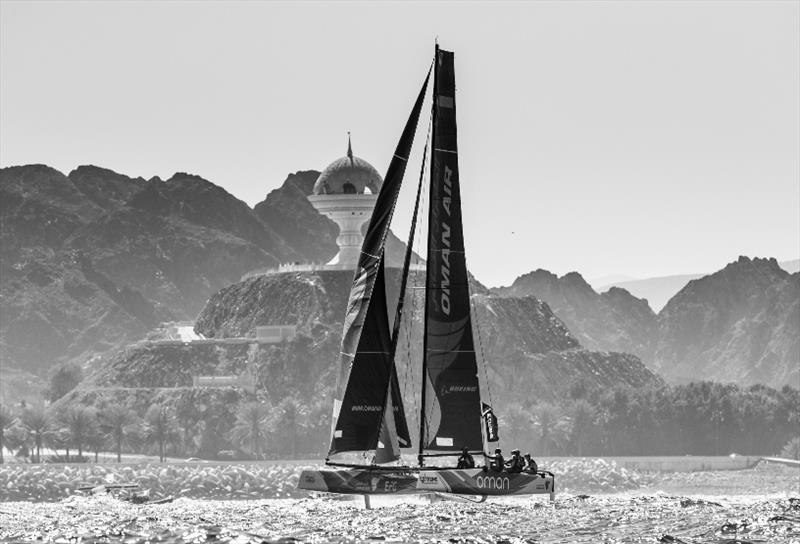 Racing off Oman's dramatic coast - Extreme Sailing Series 2017 - photo © Lloyd Images