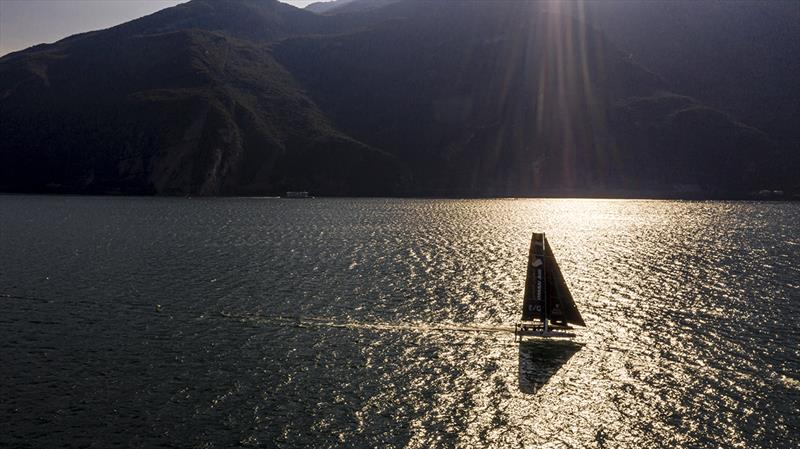 Fantastic early morning sailing today in Lake Garda's Peler northerly - 2019 GC32 Riva Cup photo copyright Sailing Energy / GC32 Racing Tour taken at  and featuring the GC32 class