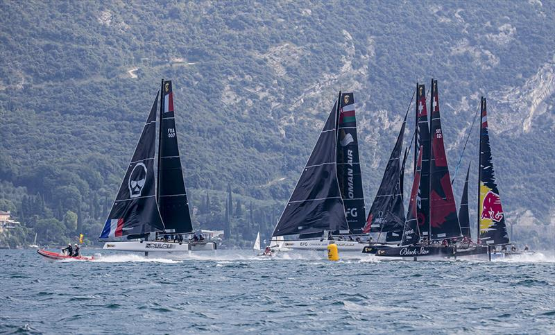 Erik Maris' Zoulou leads round the reaching mark - 2019 GC32 Riva Cup photo copyright Sailing Energy / GC32 Racing Tour taken at  and featuring the GC32 class