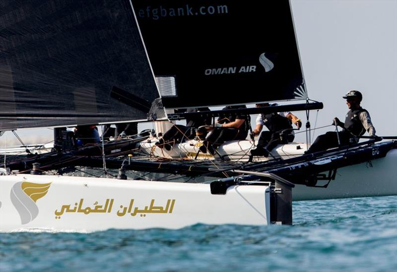 Adam Minoprio and the Oman Air crew are hoping for a home town victory this week for their sponsor. - photo © Sailing Energy / GC32 Racing Tour