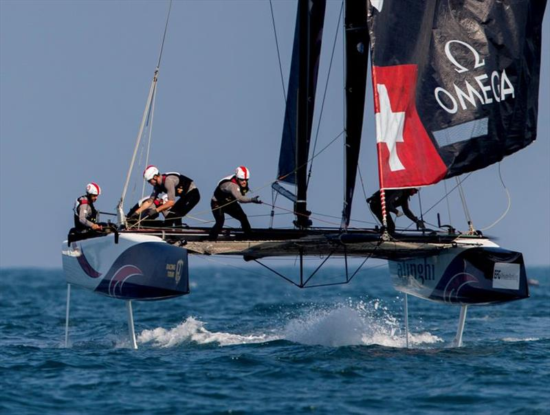 Alinghi has a heavy weight bout ahead of them this week with Oman Air. - photo © Sailing Energy / GC32 Racing Tour