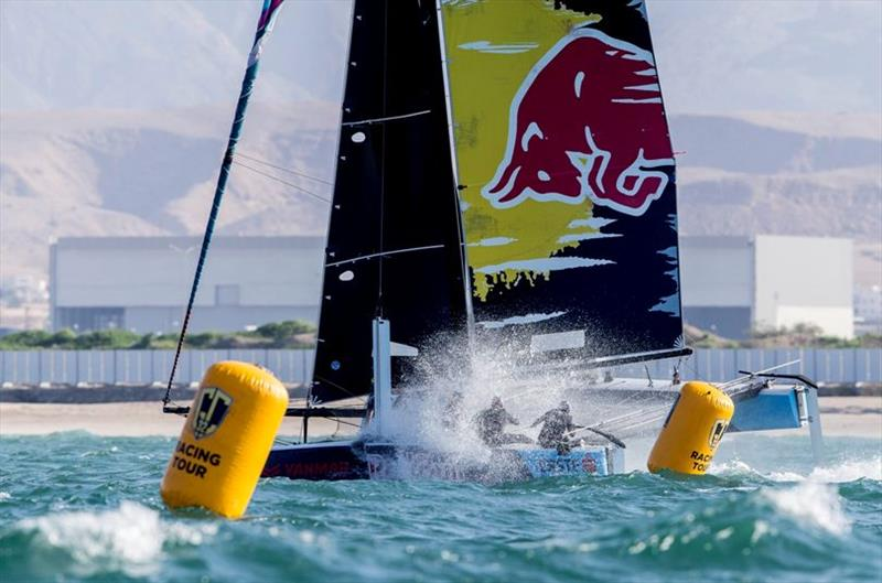 Wet ride on board Red Bull Sailing Team. - GC32 Oman Cup day 3 - photo © Sailing Energy / GC32 Racing Tour
