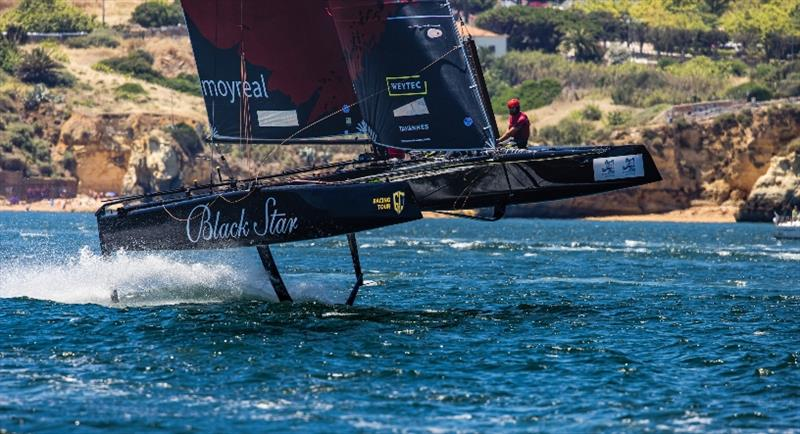 Black Star Sailing Team would have easily reached the podium at the GC32 Lagos Cup 1 had they not dismasted - photo © Sailing Energy / GC32 Racing Tour