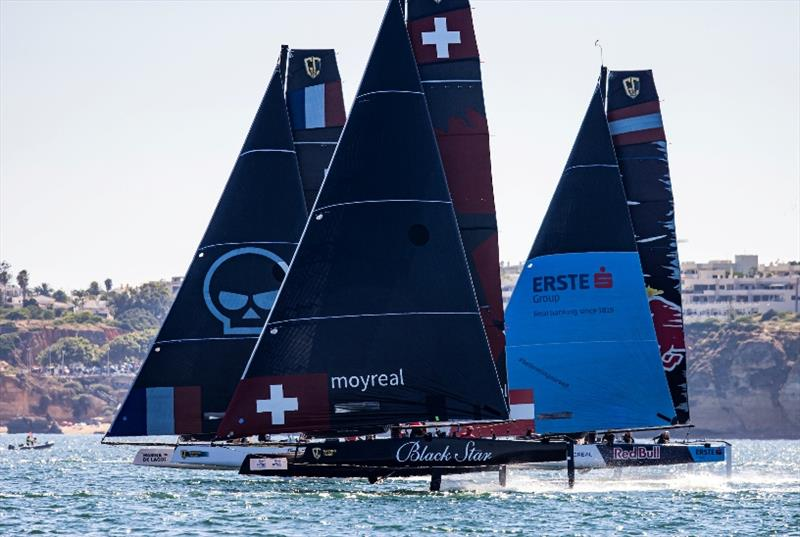 Close competition at the GC32 Lagos Cup 1 - photo © Sailing Energy / GC32 Racing Tour