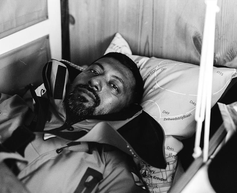 Library photo of Abhilash Tomy lying in his bunk - photo © Nick Jaffe / PPL / GGR