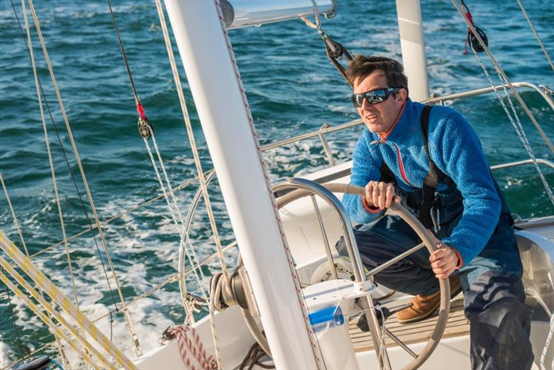 Forced to hand steer for hours on end due to failing self-steering systems led to exhaustion and frustration for Antoine Cousot (above) Istvan Kopar and Nabil Amra all pulling in to port. - photo © Antoine Cousot / GGR / PPL
