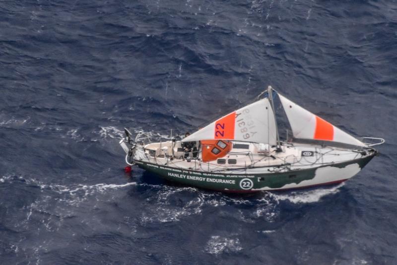 Gregor McGuckin's yacht Hanley Energy Endurance sailing under jury rig follower her dismasting. - photo © AUSTRALIAN MARITIME SAFETY AUTHORITY / PPL / GGR