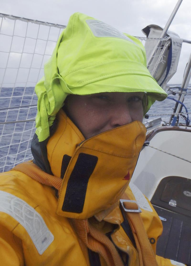 Golden Globe Race - Day 113 - Susie Goodall - wet and cold after horrific storm - photo © Susie Goodall / PPL / GGR