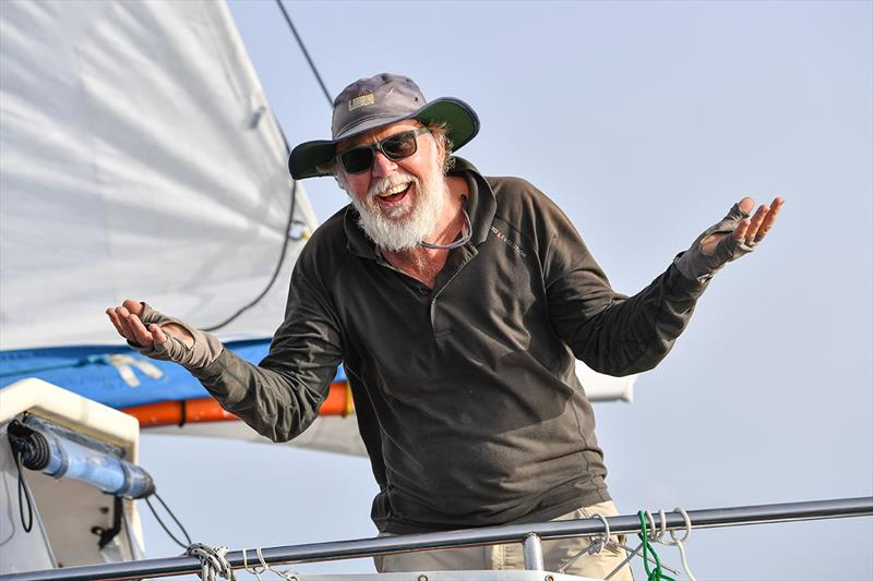 Mark Sinclair is philosophical about his withdrawn from the Race. `I've enjoyed every moment of it` He says - Day 164 - Golden Globe Race 2018 - photo © Christophe Favreau / PPL / GGR