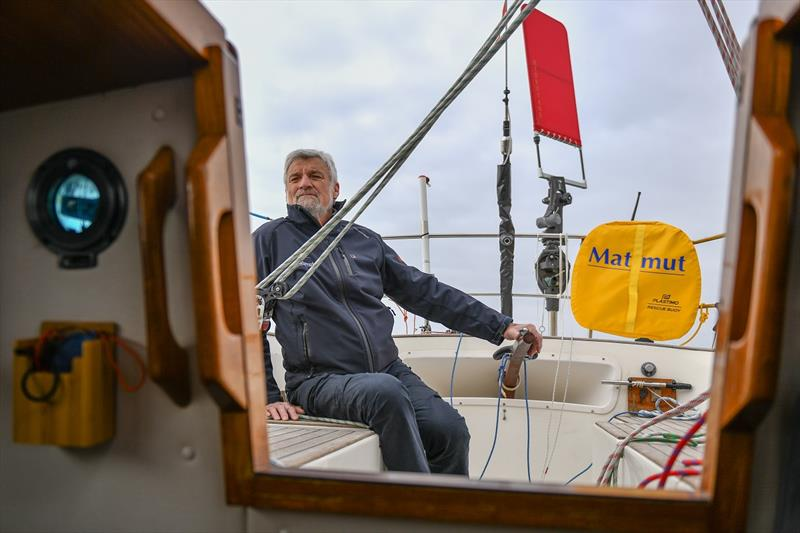 Jean-Luc Van Den Heede still has a solid hold on the lead, despite damage sustained to Matmut's mast during the Southern Ocean. photo copyright Christophe Favreau / Matmut / PPL taken at  and featuring the Golden Globe Race class