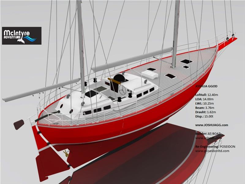 The Joshua One-design class yacht being developed for the 2022 Golden Globe Race - photo © Event Media