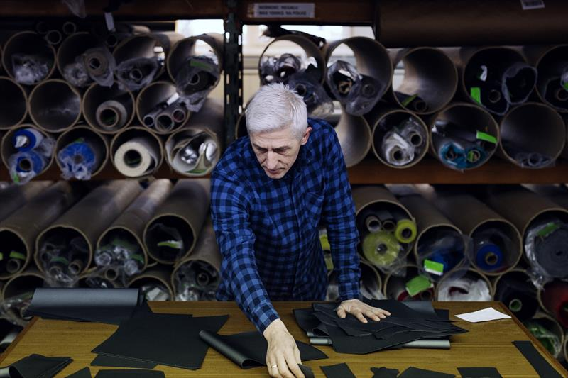 Material selection at the Henri-Lloyd factory in Poland - photo © Henri-Lloyd