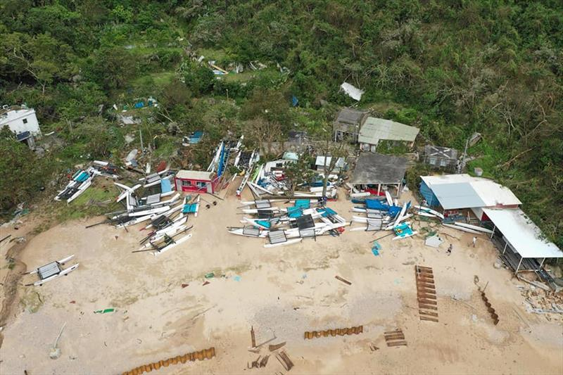 Devastation amongst the Hobie fleet on the back of Tuesday's Typhoon - photo ©  Tong Shing