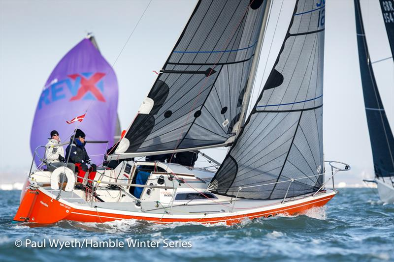Uproar (The Dukes of Hamble) in week 7 of the HYS Hamble Winter Series - photo © Paul Wyeth / www.pwpictures.com