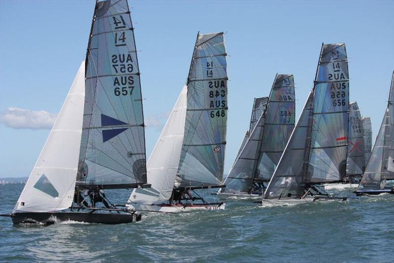 Final day - International 14 2018 Australian Championship photo copyright Lyn Hanlon taken at Darling Point Sailing Squadron and featuring the International 14 class