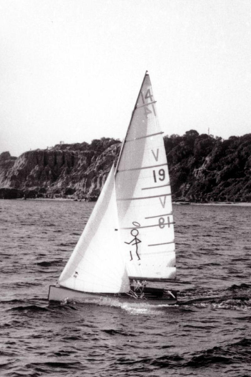 Saint V19 - 1966 - International 14 2018 Australian Championship photo copyright John Graham taken at Darling Point Sailing Squadron and featuring the International 14 class