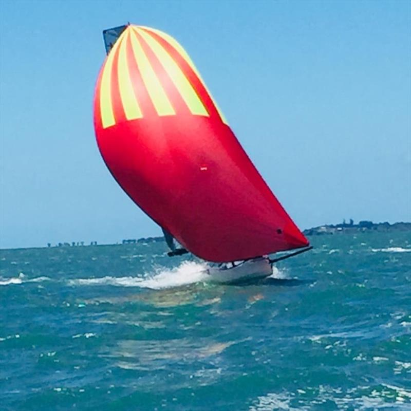 Final day - International 14 2018 Australian Championship photo copyright John Graham taken at Darling Point Sailing Squadron and featuring the International 14 class