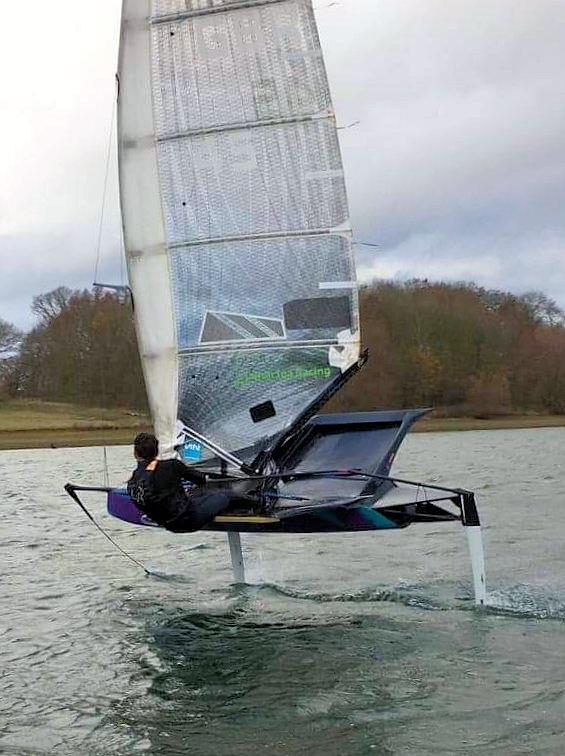 James Sainsbury having fun on Valkyrie at Rutland - photo © Nic Streatfeild