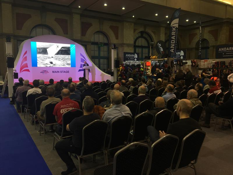 Attentive listeners to David Henshall's talk at the RYA Dinghy Show 2019 - photo © Ian Marshall