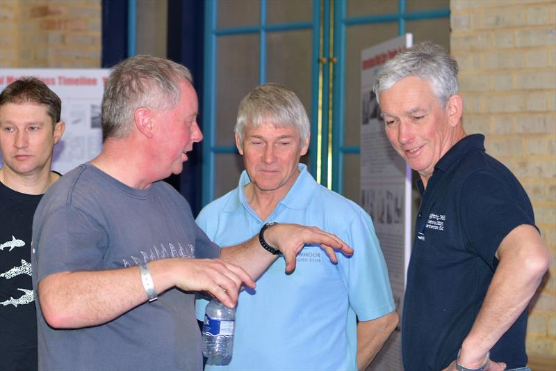 Paul, Lyndon, Ian with John Claridge at the RYA Dinghy Show 2019 - photo © Katie Hughes
