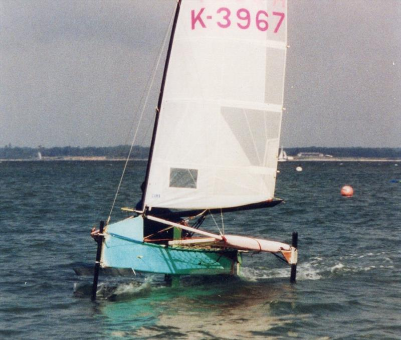 Andy had already rewritten much of the thinking about what makes for a quick International Moth and had been behind the development of the T-foil rudder. It made perfect sense therefore to just take that next step - upwards! - photo © Andy Paterson