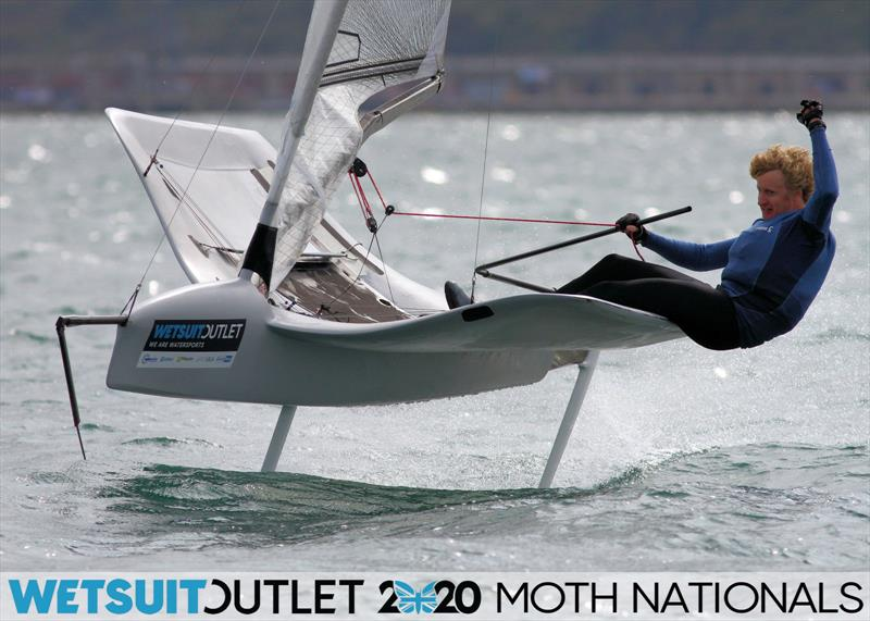 Alex Adams on day 5 of the Wetsuit Outlet UK Moth Nationals photo copyright Mark Jardine / IMCA UK taken at Weymouth & Portland Sailing Academy and featuring the International Moth class