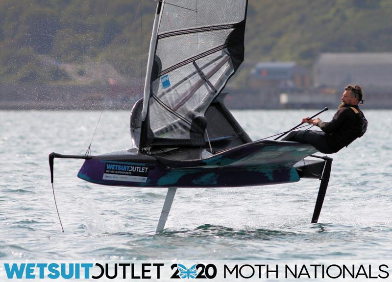 James Sainsbury on day 5 of the Wetsuit Outlet UK Moth Nationals photo copyright Mark Jardine / IMCA UK taken at Weymouth & Portland Sailing Academy and featuring the International Moth class