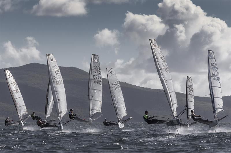 The Moths sailed four races today with reaching starts and finishes. - photo © Jean-Marie Liot / Martinique Flying Regatta