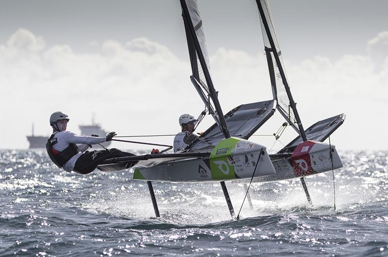 Close racing among the Moth-like one design Onefly class. - photo © Jean-Marie Liot / Martinique Flying Regatta