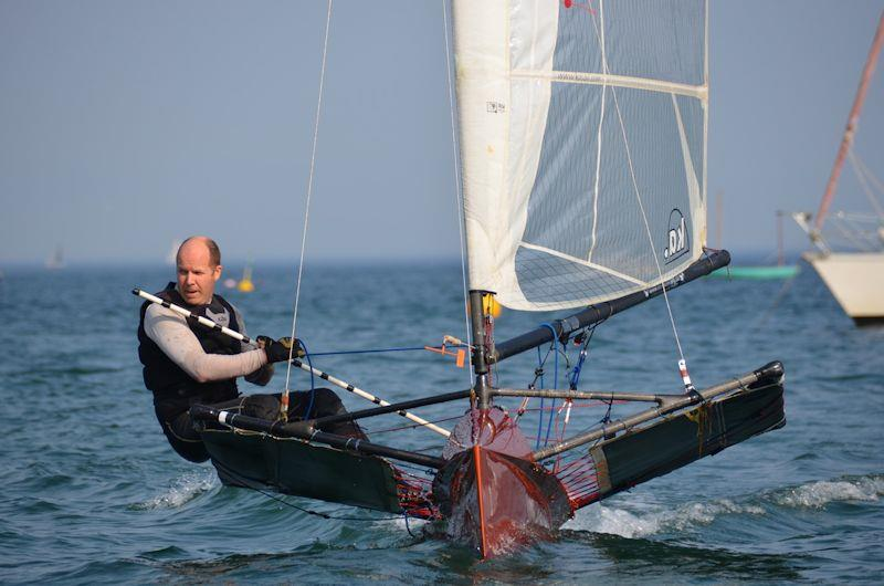 John Edwards in his Hungry Tiger at Abersoch - photo © George Edwards