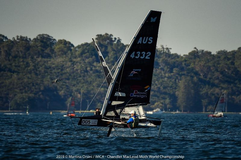 Tom Burton showed a clean pair of heels to take two wins and a second in today's racing - 2019 Chandler Macleod Moth Worlds day 2 - photo © Martina Orsini