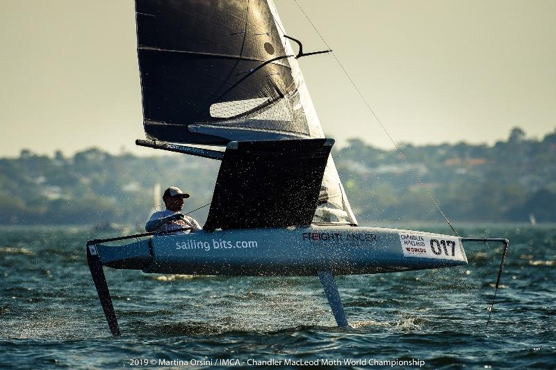 Dean Souter had a solid day of racing on the Blue course - 2019 Chandler Macleod Moth Worlds day 2 - photo © Martina Orsini