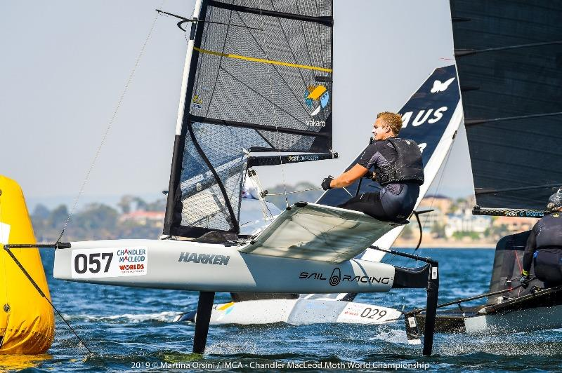 Kyle Langford was the second best after the first day of Gold Fleet racing - 2019 Chandler Macleod Moth Worlds - photo © Martina Orsini