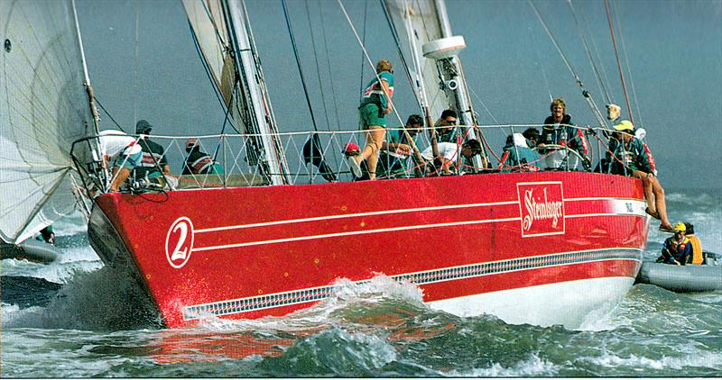 Steinlager 2 - Finish 1989/90 Whitbread Round the World Race - Southampton photo copyright Barry Pickthall / PPL taken at Royal New Zealand Yacht Squadron and featuring the IOR class