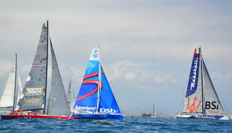 The Cape to Rio yacht race gets underway - photo © Imagina