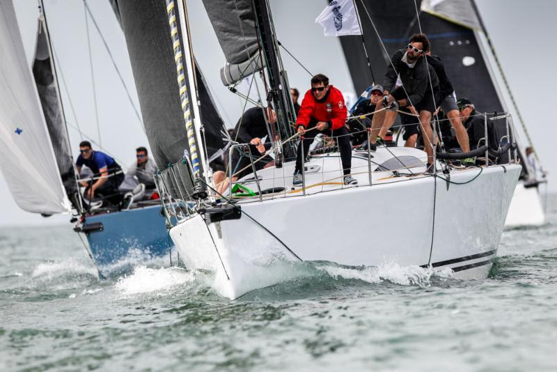 Leading IRC Two, Roger Bowden's King 40 Nifty on day 3 of the 2018 IRC European Championship and Commodores' Cup - photo © Paul Wyeth / www.pwpictures.com