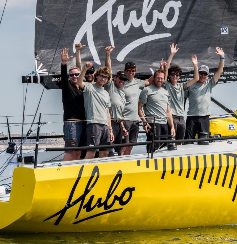A happy and relieved crew on Hubo on day 2 of The Hague Offshore Sailing World Championship 2018 - photo © Pavel Nesvadba
