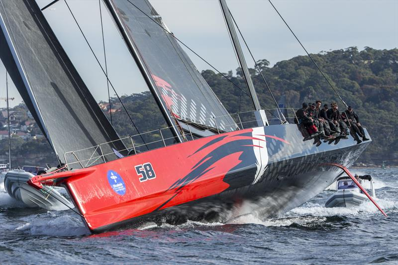 Jim Cooney's Comanche first to the heads in the 2018 Noakes Sydney Gold Coast Yacht Race - photo © Andrea Francolini