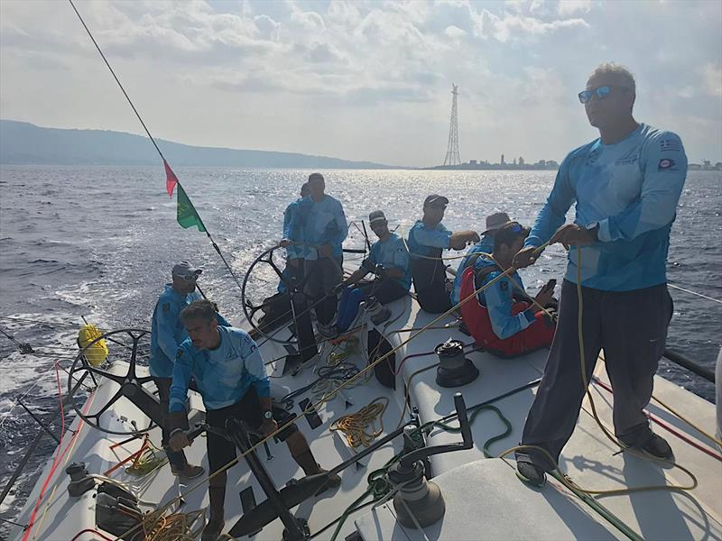 Optimum 3 crew on Day 2 of the Rolex Middle Sea Race 2018 - photo © Optimum 3