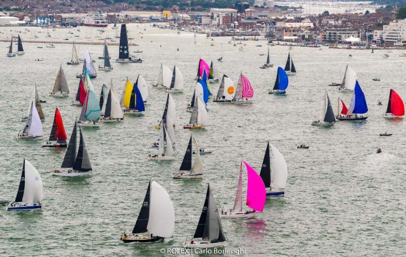 A massive fleet started the 48th edition of the Rolex Fastnet Race  - photo © Rolex / Carlo Borlenghi