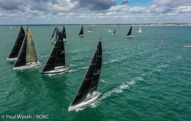David Franks' J/112E Leon holding onto the top spot in IRC Two on day 2 of the RORC IRC National Championships - photo © Paul Wyeth / pwpictures.com