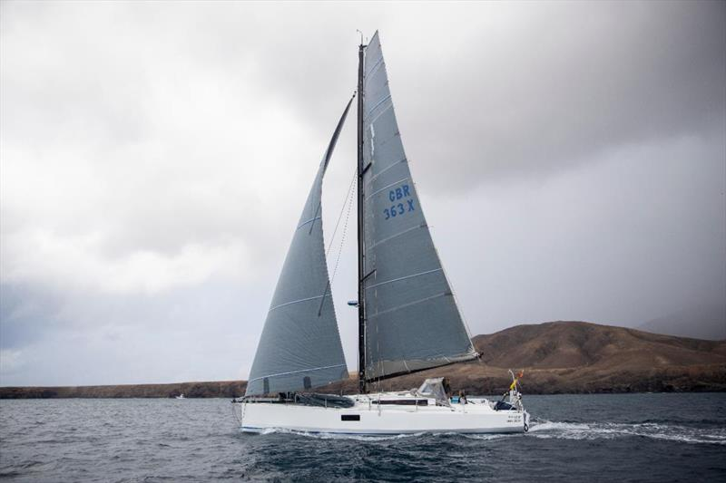 Start of the 2021 RORC Transatlantic Race from Puerto Calero, Lanzarote - Tim and Mayumi Knight's Pogo 12.50 Kai - racing Two-Handed ©James Mitchell / RORC