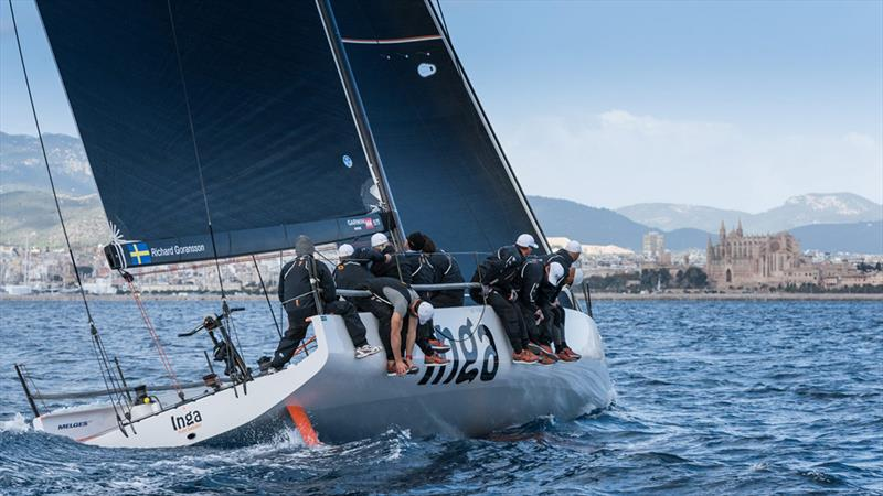 "Palma Vela- Placing first in the Melges 40 Class, Inga from Sweden skippered by Richard Goransson excelled with flying colors. Cameron Appleton, tactician of Inga, champion of class Melges 40: ""It was a long and complicated race. - photo © Melges / ZGN"