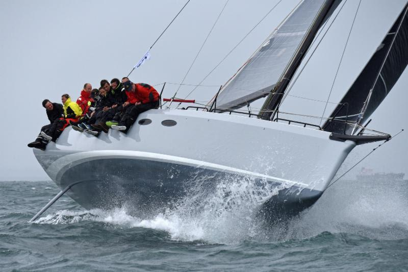 Mark Emerson's A13 Phosphorus II at the Sevenstar Round Britain and Ireland Race start - photo © Rick Tomlinson / RORC