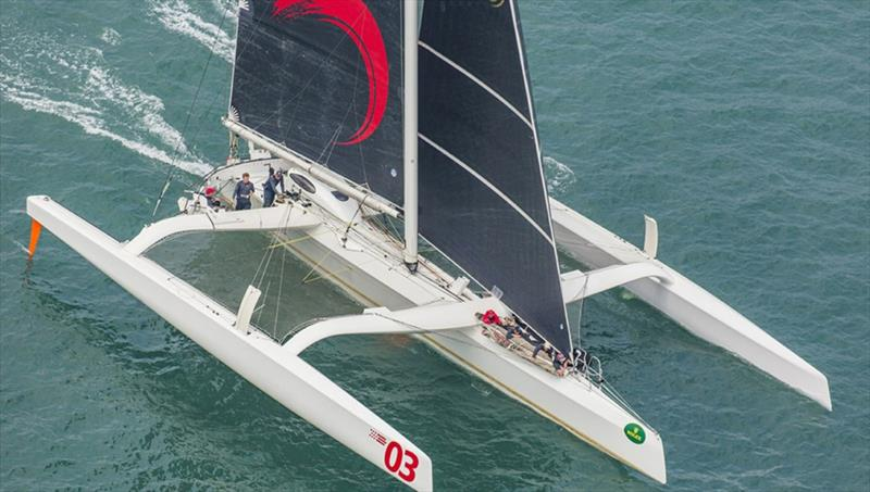 Karl Kwok's high-performance MOD70 trimaran, Beau Geste, will be a star attraction at Hamilton Island Race Week in August. - photo © Daniel Forster