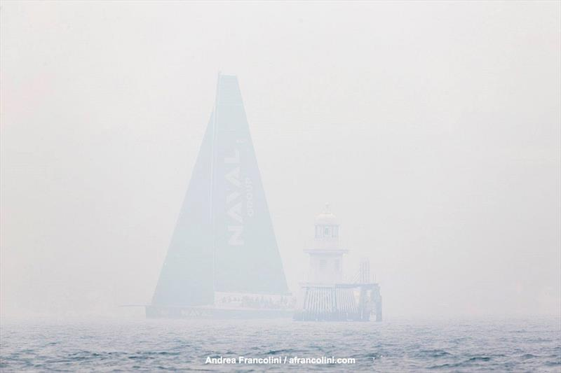Smoke on the water during the Grinders Coffee SOLAS Big Boat Challenge - photo © Andrea Francolini
