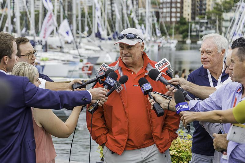 The Big Fella, Iain Murray in high demand from the media before stepping on board Wild Oats XI. - photo © Rolex / Stefano Gattini