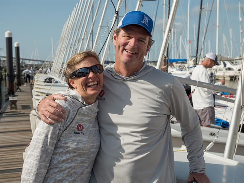 Geoff and Mary Ewenson - 2018 Sperry Charleston Race Week  - photo © Larry Monteith
